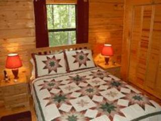 Lakeview Log Cabin Master Bedroom
