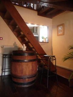 escalier pour la partie nuit