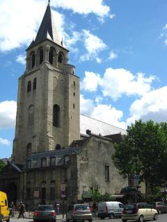 Saint-Germain des Prés, Paris oldest, in the neighborhood