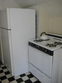 full size fridge and stove