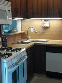 Kitchen with Microwave, GAS Stove & Dishwasher