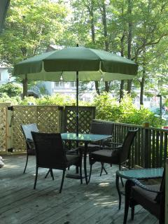 Deck with Table for Four & Love Seat with Coffee Table