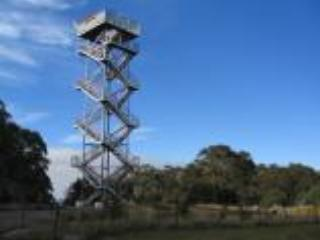 The tower at the summit of Mt Donna Buang on a clear sunny day