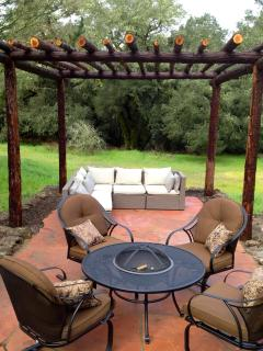 The Pergola Is Handmade From the Tops Of Redwood Trees From The San Lorenzo Valley.
