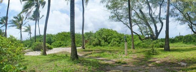The garden leads out onto the beach and Watamu Marine Park