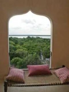 Views from an upper floor window