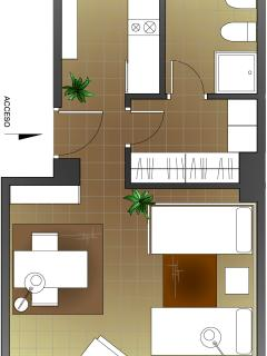apartment plan. alternative 1