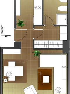 apartment plan. alternative 2