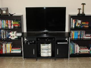 Entertainment in the family room - over 200 cable channels, DVDs, books