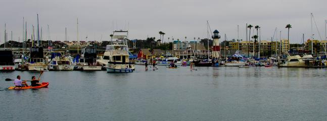 Oceanside Harbor where you can paddleboard, kayak, shop or eat at one of the fine restaurants