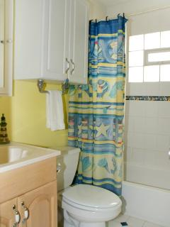 Bathroom 1 = tub/shower combo