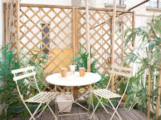 Rue des Francs Bourgeois. Outstanding studio in the heart of the Marais with terrace., Paris