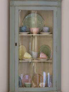Elegant bow fronted china cabinet