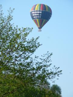 Hot air ballooning from Victoria Park..One of the many sights of Bath