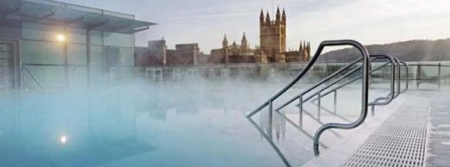 Bath Thermae Spa, wonderful waters and treatments.  A truly modern spa with a roof pool.