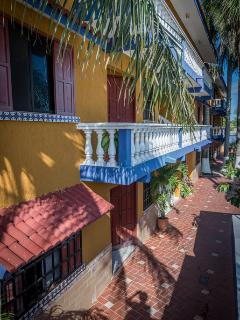 Balcony and walkway at Dodo Residential,Cozumel,Mexico