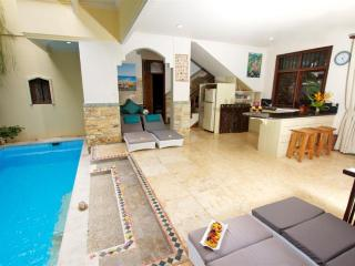 Pool with kitchen area