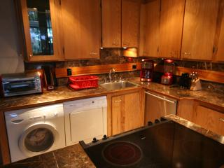 Completely updated modern kitchen with washer and dryer