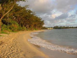 More than a mile of white sandy beach