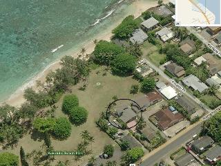 House (in circle) is just 40 steps from the Ocean