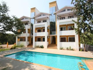 Two bedroom pool facing Apartment for rent in Anjuna Goa