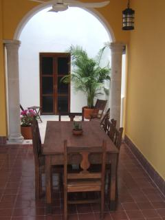 Outside dining room
