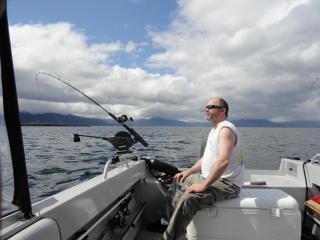 Trolling for salmon.