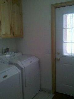 Separate Laundry Room - with full sized washer & dryer
