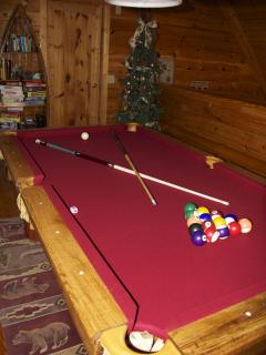 Challenge your family or friends on the new oak slate billiards table.