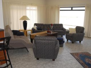 Huge Lounge with magnificent views of the famous Namib Dunes and Atlantic Ocean.