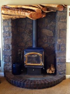 Wood Stove in the Living Room