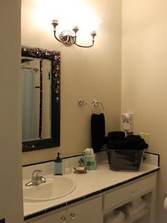 Master Bath - Brand new and complete with all the amenities for your stay.