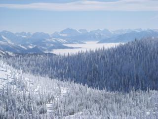 Views towards Glacier National Park.