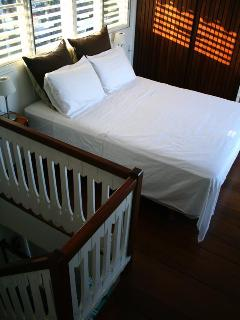 Ultra comfy bed on hard wood floors