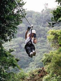 One of the activities in the area are Zip lines