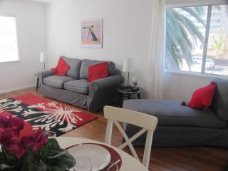 Spacious living room with ocean views