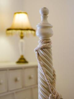 Turned Bedpost on one of the beds - lovely cream Laura Ashley Furnitu