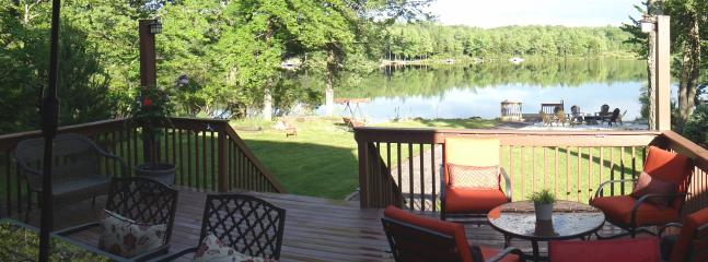 Panoramic view of the lake from the deck
