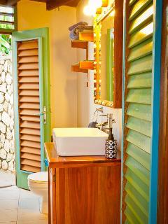 Updated bath with indoor & outdoor showers