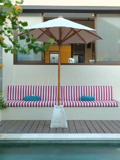 Sofa at the Swimming Pool