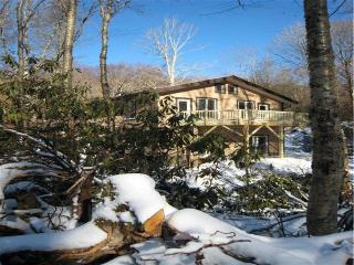 The Beech Mountain Lodge in winter snow