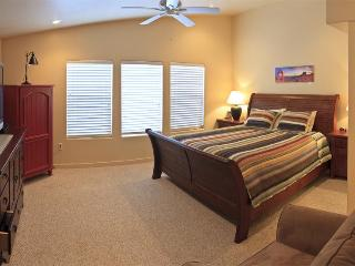 Master BR - king bed, flat screen TV, private bathroom (2 sinks, oversized shower)  & walk-in closet