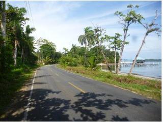 Road along the beach