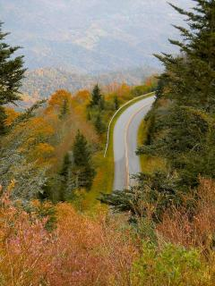 The Blue Ridge Parkway ~ Just 5 minutes from the Chalets!