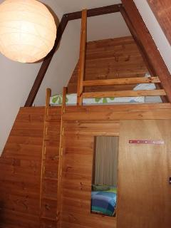 Staircoase to Heaven ladder to loft bed off Master bedroom