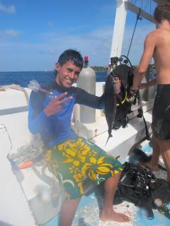 Fishing off Delfin - Tuna catch