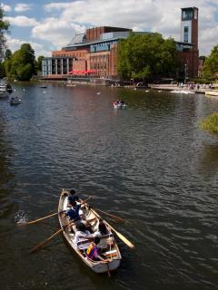 The RSC Theater with the Avon river