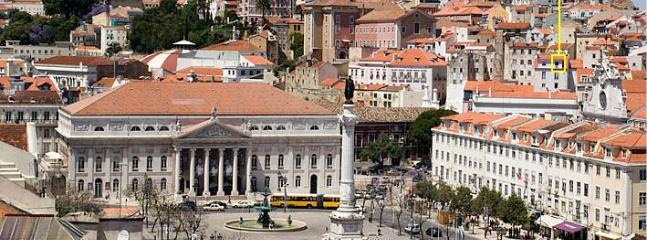 View of the apartment and Rossio Square from Sta. Justa Elevator