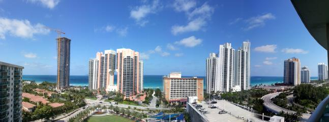 Panoramic view from balcony