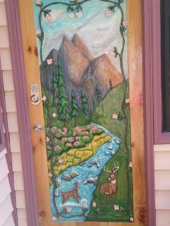 Chalet Door by Local Artist